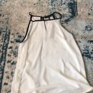 White tank with black outline